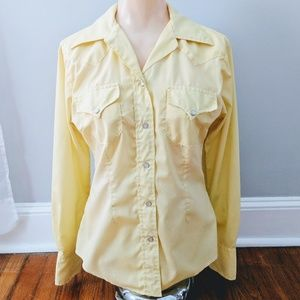 H Bar C California Ranchwear Yellow Western Shirt